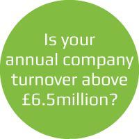 Is your annual company turnover above £6.5million?